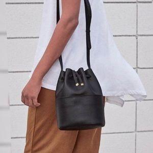 Cuyana Mini Bucket Bag Drawstring Leather Purse